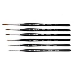 Roubloff Fine-Art Brush - 101F-2 Standard (Red sable hair) - четка за оцветяване на миниатюри от естествен косъм в Четки, бои и аксесоари