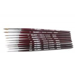Roubloff Fine-Art Brush - 301Т-00 (Siberian kolinsky hair) - четка за оцветяване на миниатюри от естествен косъм в Четки, бои и аксесоари