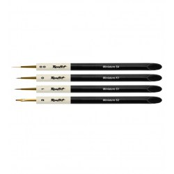 Roubloff Fine-Art Brush - Set Miniature 1 - miniatures painting brush set (00, 0, 1, 2 flat) in Brushes, paints and more