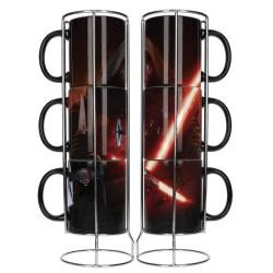 Star Wars Episode VII: Set Kylo's Lightsaber Stackable Mugs - комплект чаши