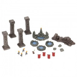 WizKids Miniatures: Fantasy Terrain - Painted Pools & Pillars Board Game