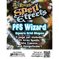 Ark Knight: Spell Effects Pathfinder Wizard in D&D Cards & Accessories