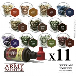 Army Painter - Quickshades Washes Set in Brushes, paints and more