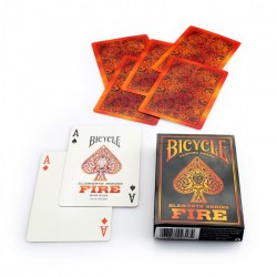 Bicycle FIRE Elements Playing Card Deck - Fire in Playing cards
