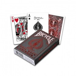 Bicycle MetalLuxe Foil Back Playing Cards - 2019 V2 Edition Crimson Red in Playing cards