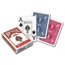Bicycle Prestige 100% Plastic Playing Card Deck - Red Raider Back в Карти за игра