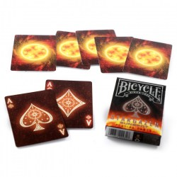 Bicycle Star Gazer - Sun Spots - Playing Card Deck в Карти за игра