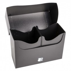 Blackfire Double Deck Holder (160+) - Black in Deck boxes