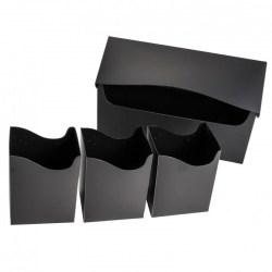 Blackfire Triple Deck Holder (240+) - Black in Deck boxes