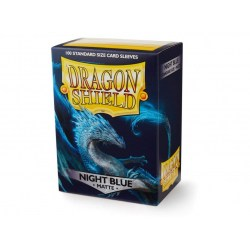 Dragon Shield - premium matt sleeves (Night Blue) 100 per pack in Standard Size (Magic, LCG игри и др., 63.5x88мм размер на картите)