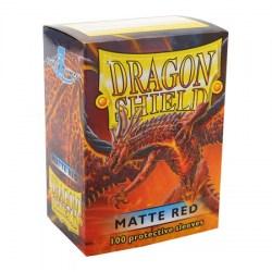 Dragon Shield - premium matt sleeves (red) 100 per pack in Standard Size (Magic, LCG игри и др., 63.5x88мм размер на картите)