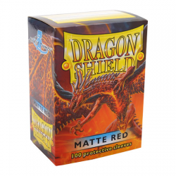 Dragon Shield Standard Sleeves - Matte Red - матови протектори за карти (червени) 100 бр. в LCG, 63.5x88 мм)