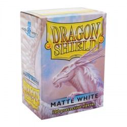 Dragon Shield Standard Sleeves - Matte White - матови протектори за карти (бели) 100 бр. в LCG, 63.5x88 мм)