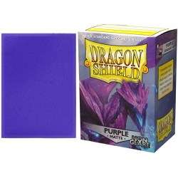 Dragon Shield - premium non-glare matt sleeves (purple) 100 per pack in Standard Size (Magic, LCG игри и др., 63.5x88мм размер на картите)