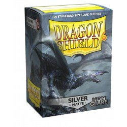 Dragon Shield Standard Sleeves - Non-glare Matte Silver - матови протектори за карти (сребристи) 100 бр. в LCG, 63.5x88 мм)