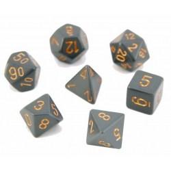 Комплект D&D зарове: Chessex Opaque - Dark Grey w/ Copper в Зарове за игри