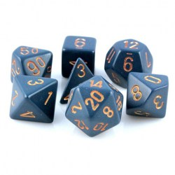 D&D Dice Set: Chessex Opaque - Dusty Blue w/ Copper in Dice sets