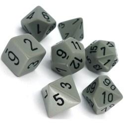 Комплект D&D зарове: Chessex Opaque - Grey w/ Black в Зарове за игри