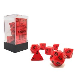 Комплект D&D зарове: Chessex Opaque - Red/Black в Зарове за игри