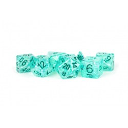 MDG Games: 16mm Resin Flash Dice Poly Dice Set - Teal in Dice sets