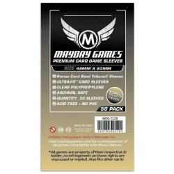 Протектори за карти 49x93мм Mayday Premium Tribune Card Sleeves (50 броя, прозрачни, плътни) в Други размери