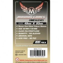 Протектори за карти 49x93мм Mayday Tribune Card Sleeves (100 броя, прозрачни, тънки) в Други размери