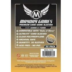 """Протектори за карти 50x75мм Mayday """"Sails of Glory"""" Premium Card Sleeves (50 броя, прозрачни, плътни) в Други размери"""