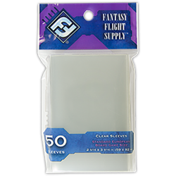 Протектори за карти 59x92мм Fantasy Flight Games Standard European Board Games Sleeves (50 броя, прозрачни) в Standard Euro (59x92 мм)