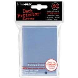 Протектори за карти 63.5x88 / 66x91мм Ultra Pro Deck Standard Sleeves (50 броя, прозрачни, за стандартни TCG карти) в LCG, 63.5x88 мм)