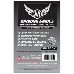 Mayday Premium Magnum Card Sleeves 70x110mm (50 premium clear sleeves) in Other Sleeves
