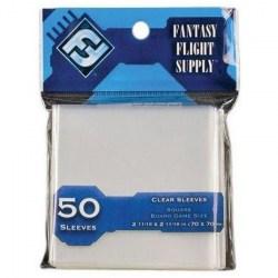 Протектори за карти 70x70мм Fantasy Flight Games Square Board Games Sleeves (50 броя, прозрачни) в Други размери