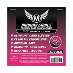 Протектори за карти 70x70мм Mayday Small Premium Square Card Sleeves (50 броя, прозрачни, плътни) в Други размери