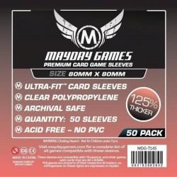 Протектори за карти 80x80мм Mayday Premium Square Card Sleeves (50 броя, прозрачни, плътни) в Други размери