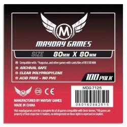 Протектори за карти 80x80мм Mayday Square Card Sleeves (100 броя, прозрачни, тънки) в Други размери