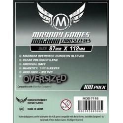 Протектори за карти 87x112мм Mayday Munchkin Dungeon Sleeves - Magnum Oversized (100 броя, прозрачни, тънки) в Други размери