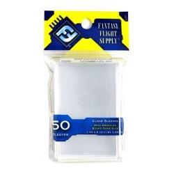 Протектори за карти Fantasy Flight Games Mini American Board Game Premium Card Sleeves - 41x63мм (50 броя плътни, прозрачни)