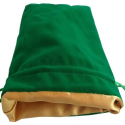"Velvet Dice Bag - Green with Gold Satin Lining 6x8"" (15*20cm)"