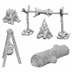 WizKids Deep Cuts Unpainted Miniatures Wave 10: Camp Fire & Sitting Log в D&D и други RPG / D&D Миниатюри