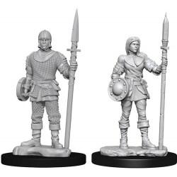 WizKids Deep Cuts Unpainted Miniatures Wave 10: Guards в D&D и други RPG / D&D Миниатюри