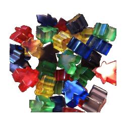 Dicetopia - Agent Meeple Pack (35 translucent Mini-Meeples)