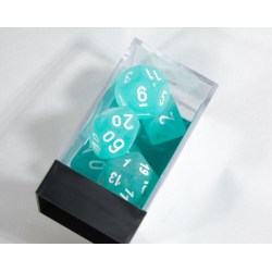 Polyhedral 7-Die Set: Chessex Frosted Teal & White in Dice sets