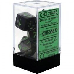 Комплект D&D зарове: Chessex Gemini Black-Grey & Green в Зарове за игри