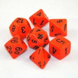 Комплект D&D зарове: Chessex Opaque - Orange w/ Black в Зарове за игри