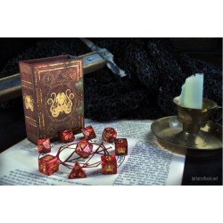 Комплект D&D зарове: Elder Dice Brand of Cthulhu - Red Polyhedral Set в D&D и други RPG / D&D Зарове
