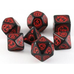 Комплект D&D зарове: Q-Workshop Dragons Dice Set (Red & Black) в Зарове за игри