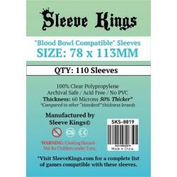 """Протектори за карти Sleeve Kings """"Blood Bowl Compatible"""" Card Sleeves (78x113mm) 110 Pack, 60 Microns в Други размери"""