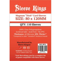 "Протектори за карти Sleeve Kings Magnum ""Dixit"" Card Sleeves (80x120mm) 110 Pack, 60 Microns в Dixit Size (80x120 мм)"