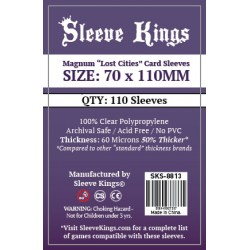"Протектори за карти Sleeve Kings Magnum ""Lost Cities"" Card Sleeves (70x110mm) 110 Pack, 60 Microns в Други размери"