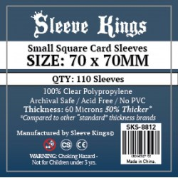 Sleeve Kings Small Square Card Sleeves (70x70mm) 110 Pack, 60 Microns in Other Sleeves
