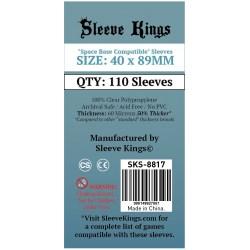 "Протектори за карти Sleeve Kings ""Space Base Compatible"" Card Sleeves (40x89mm) 110 Pack, 60 Microns в Други размери"